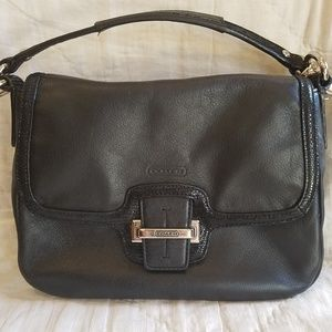 Authentic Coach Taylor leather flap crossbody